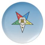 Orden de OES del azul del este de la estrella Plato De Cena