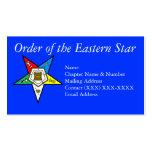 Orden del azul del este de la estrella tarjetas de visita