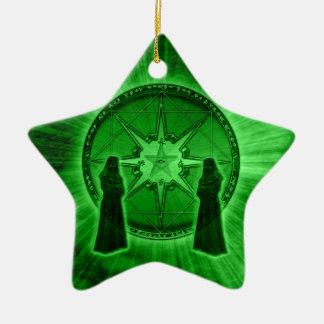 Orden del caos adorno navideño de cerámica en forma de estrella