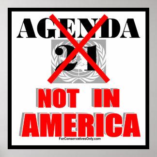 Orden del día 21 - No en América Posters