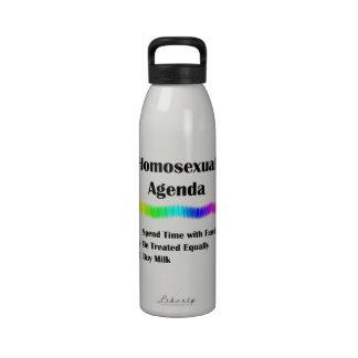 Orden del día homosexual botellas de agua reutilizables