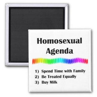 Orden del día homosexual imán cuadrado