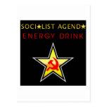 Orden del día socialista tarjetas postales