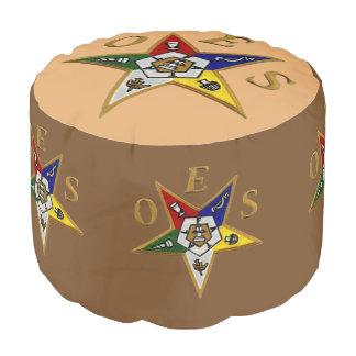 ORDEN del otomano redondo   de la ESTRELLA DEL Puf Redondo