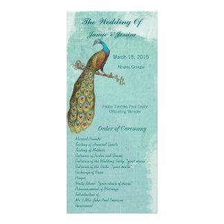 Orden del programa del boda del pájaro del vintage lona personalizada