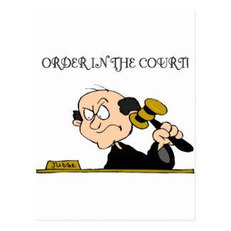 Orden en la corte postales