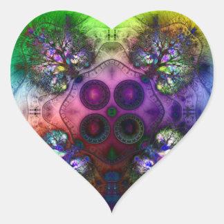 Orden en la raíz de todo el caos V1 (corazón) Pegatina En Forma De Corazón
