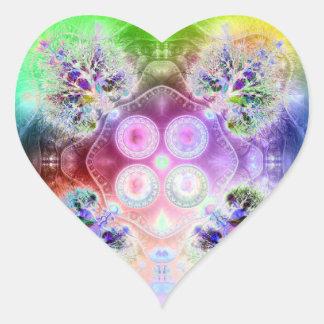 Orden en la raíz de todo el caos V3 (corazón) Pegatina En Forma De Corazón