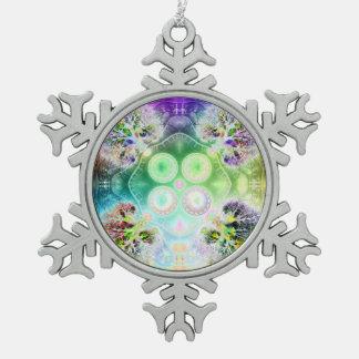 Orden en la raíz de todo el copo de nieve Orn del Adorno De Peltre En Forma De Copo De Nieve