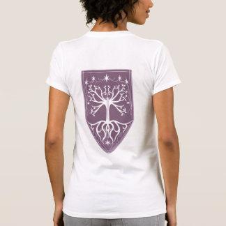 Orden escudo del árbol blanco camiseta