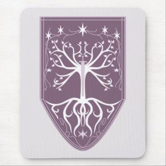 """""""Orden escudo del árbol blanco"""" Mousepads"""