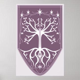 """Orden escudo del árbol blanco"" Póster"