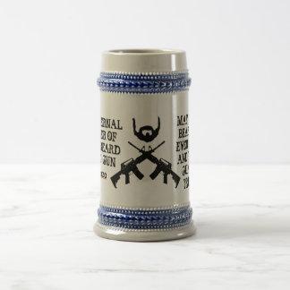 Orden fraternal de la barba y del arma tazas de café