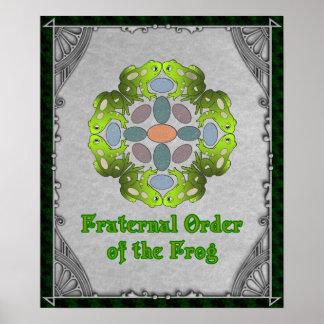 Orden fraternal de la rana póster