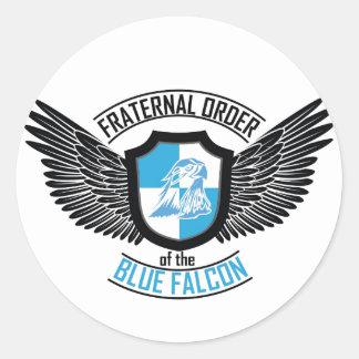 Orden fraternal del halcón azul, halcón azul pegatina redonda