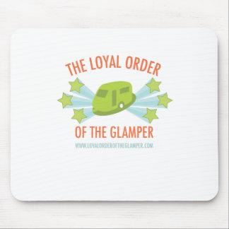 Orden leal brillante del logotipo de Glamper Alfombrilla De Ratón