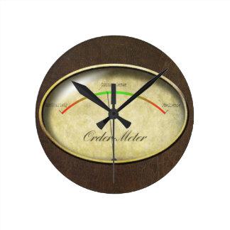 Orden-Metro Reloj Redondo Mediano