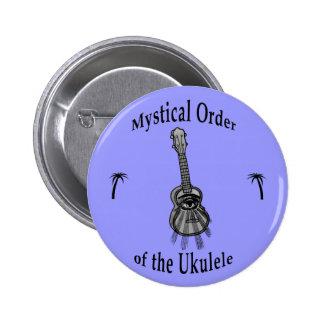 Orden mística del Ukulele Pin Redondo De 2 Pulgadas