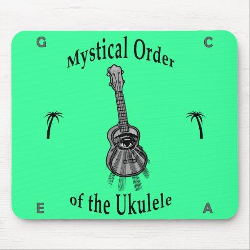 Orden mística del Ukulele Tapete De Ratones