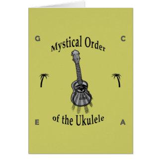 Orden mística del Ukulele Tarjeta De Felicitación