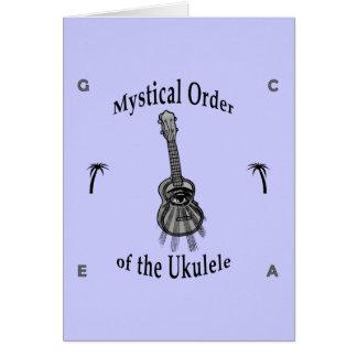 Orden mística del Ukulele Tarjeta Pequeña