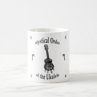 Orden mística del Ukulele Taza Básica Blanca
