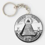 Orden mundial de Illuminati de la pregunta nuevo Llavero
