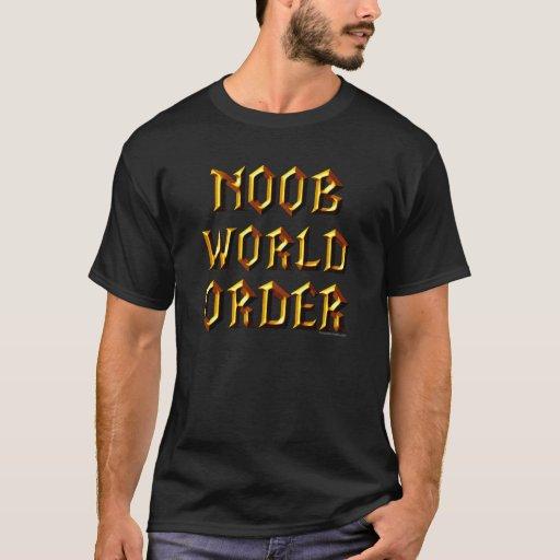 Orden mundial de Noob Playera