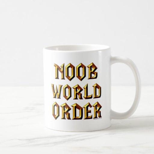 Orden mundial de Noob Taza Básica Blanca