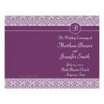 Orden púrpura del boda del programa del servicio y flyer personalizado