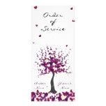 Orden púrpura del boda del servicio/del programa diseños de tarjetas publicitarias