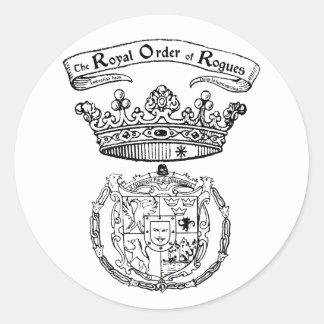 Orden real del pegatina del escudo de los granujas