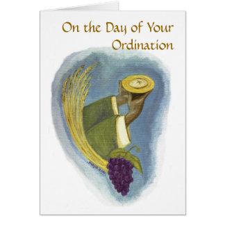 Ordenación a la sacerdocio 01 tarjeta de felicitación