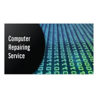 Ordenador abstracto de los dígitos que repara la t tarjeta personal