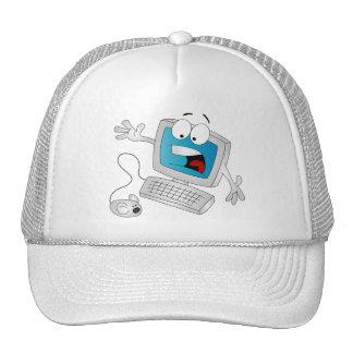 Ordenador asustado gorra