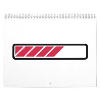 Ordenador de la barra de cargamento calendarios de pared