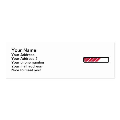 Ordenador de la barra de cargamento plantilla de tarjeta de visita