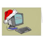 Ordenador de las Felices Navidad Tarjeta