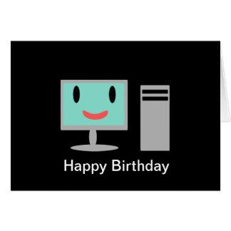 Ordenador del cumpleaños tarjeta de felicitación