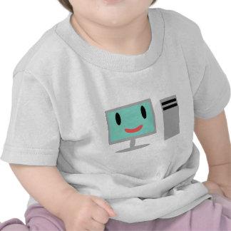 ordenador del dibujo animado camisetas