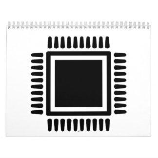 Ordenador del microchip calendario