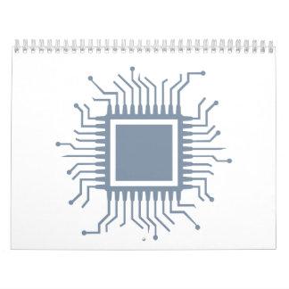 Ordenador del microprocesador del microchip calendario
