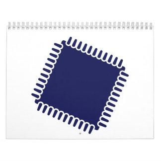 Ordenador del microprocesador del microchip calendarios de pared