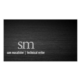 Ordenador del monograma del metal del negro del tarjetas de visita