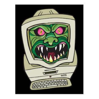 Ordenador del monstruo tarjetas postales