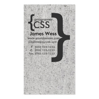 Ordenador del programador del CSS del diseñador Tarjetas De Visita