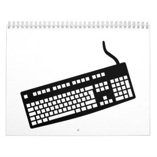 Ordenador del teclado calendarios de pared