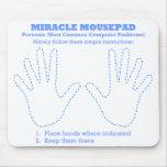 Ordenador divertido Mousepad del milagro