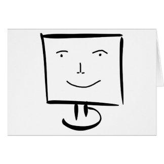 Ordenador feliz tarjeta de felicitación