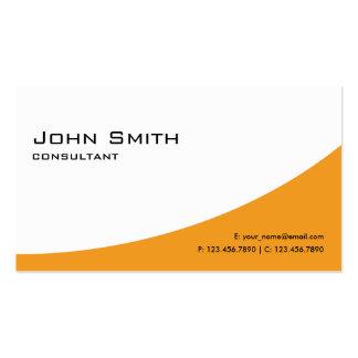 Ordenador moderno elegante anaranjado llano tarjetas de visita